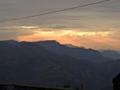 Sonnenuntergang über den Westghats